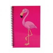 Flamingo notitieboekje roze 18cm