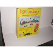 I Love Toy Trains Wooden Accessory Set