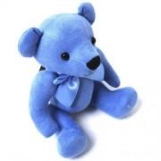 Little Rainbow Teddy Bear Rag doll - Blue 16cm