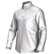 Maatoverhemd wit/roze 55290