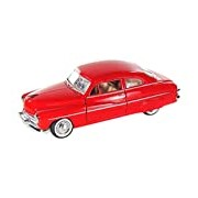 "Motormax GOTZMM73225RD 1:24 Scale Metallic Red ""1949 Mercury Coupe"" Die Cast Model Car"