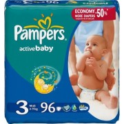 Scutece Pampers Active Baby 3 - 96 bucati