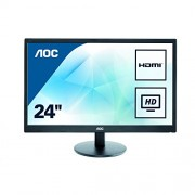 AOC 23.6 inch LED Monitor, 2 x HDMI, VGA Vesa E2470SWHE