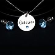 Blue - set argint