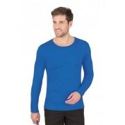 Trigema Herren Langarm-Shirt Größe: L Material: 95 % Baumwolle, Ringgarn supergekämmt, 5 % Elastan Farbe: electric-blue