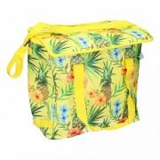 Koeltas geel met Hawaiiprint