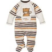 Schnizler Schlafoverall Nicki Ringel Tiger, Oeko-Tex Standard 100, Pijama Para Bebés, Beige (Natur 2), 6 Mes