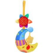 Magideal Kids Lovely Soft Moon Model Handbells Rattle Plush Rattles Baby Rattles Toys