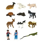 Plastic Miniatures In Toobs-Petting Zoo