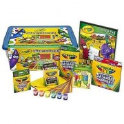 Crayola GIANT COLOR KIT Exclusive- 0ver 100 pieces- Crayons Construction Paper Coloring Book COLORED Pencils Paint and B