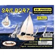 Puzzled Sailboat Wooden 3D Puzzle Construction Kit