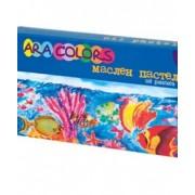 Пастел маслен, 12 цвята в картонена кутия малки