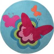 Esprit Teppich Butterflies Butterflies, 100 x 100 cm (ESP-3811-01)