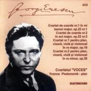 George Enescu - Cvartet de coarde nr.1&2,Cvartet pentru pian,vioara,viola si violoncel nr.1&2. (2CD)