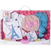 Nenuco - Set ropita Deluxe con temática Paris (Famosa 700011327)