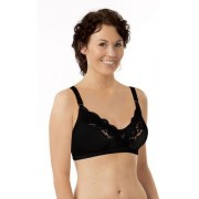 Carriwell Mikrofíber csipkés szoptatós melltartó VII - fekete