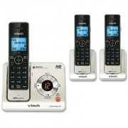 VTech LS6425-3 DECT 6.0 Expandable Cordless Phone with Answering System and Caller ID/Call Waiting Silver with 3 Handsets