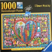 """Ravensburger Puzzle """"All That Love in the Middle of the City"""" by James Rizzi 1000 Piece Jigsaw Puzzl"""