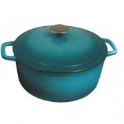 Cratita fonta pura + capac, 5.8l, 25.5 x 12.9 cm, Heinner, Turcoaz