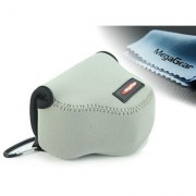 MegaGear Ultra Light Neoprene Camera Case Bag with Carabiner for Canon PowerShot SX510 SX420 IS SX410 IS SX400 (Gray)