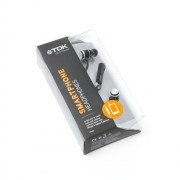 TDK - IP300 IN-Ear Black Headphones with Smartphone Control