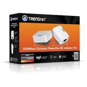 TRENDnet TPL-406E2K :: 500 Mbps Powerline AV Nano комплект адаптери
