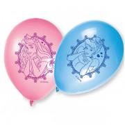 Set 8 baloane PRINTESE roz