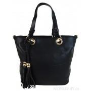 Elegantní kabelka na rameno se zlatými doplňky 2181-BB černá