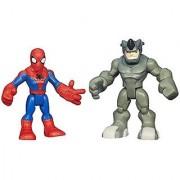 Playskool Heroes Marvel Super Hero Adventures Spider-Man and Rhino Figures