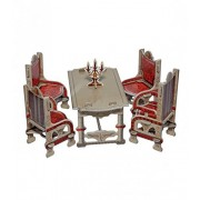 Keranova Keranova259-02 Grey Clever Paper Doll House Dining Room Furniture Collection 3D Puzzle (26-Piece) by Keranova