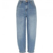 River Island Womens Mid Blue authentic denim tapered jeans