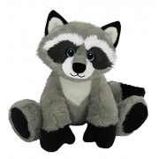 First & Main 7783 Sitting Floppy Friends Raccoon Plush Toy, 7 H by First & Main