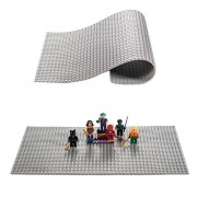 Lego Compatible Brick Building Base 15 X 10 Gray Silicone Mat Baseplate By Fun For Life