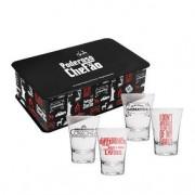 Kit copos de Shot Tequila O Poderoso Chefao + Caixa Decorativa
