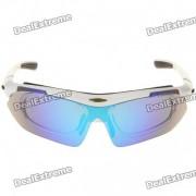 Proteccion UV Resina fresca Frame PC lente gafas de sol deportivas Gafas w / 5 Replacement Lens Set
