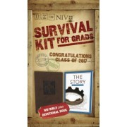NIV, 2017 Survival Kit for Grads, Boys' Edition, Brown, Red Letter Edition