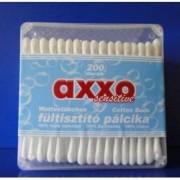 Axxo műanyag dobozos fültisztító pálcika - 200 db