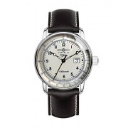 Zeppelin Unisex-Armbanduhr Chronograph Quarz Leder 7654-4