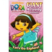 Dora the Explorer Giant Activity Booklet ~ Let's Go Explore (224 Pages)