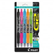 G2 Fashion Premium Retractable Gel Ink Pen, Assorted Ink/barrels, .7mm, 5/set