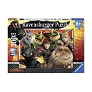 Ravensburger 12812 - Dragons - Hicks, Astrid And The Dragon Puzzle 200 Pieces
