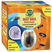 Inset Raus Aparat electronic cu ultrasunete și unde electromagnetice împotriva insectelor (muște, gândaci, furnici) pentru o suprafață de până în 200 de mp