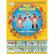 Farm Animals Mix-A-Million 10 Jumbo Mix & Match Puzzles