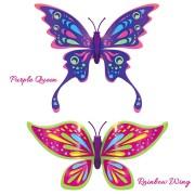 Set 2 bucati Fluturasul magic – Rainbow Wing si Purple Queen