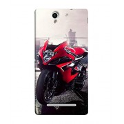 Fuson Designer Back Case Cover for Sony Xperia C3 Dual :: Sony Xperia C3 Dual D2502 (Motorcycle Racing Road rash Big wheels Yamaha)