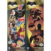 Batman vs Superman (with Wonder Woman) - 50 Piece Tower Jigsaw Puzzle - DC Comics - (Set of 2 Puzzle)
