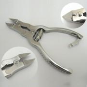 Kraftig nageltång, månformad i rostfritt stål, 15,5 cm