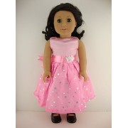 A Light Pink Dress With Sequined Skirt Designed For 18 Inch Doll Like The American Girl Dolls Shoes Sold Separately