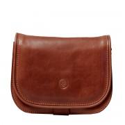 Damen Leder Schultertasche in Braun - Aktentasche, Umhängetasche, Businesstasche, Laptoptasche