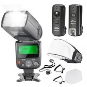 Neewer® PRO NW670 E-TTL Photo Flash Kit for CANON Rebel T5i T4i T3i T3 T2i T1i XSi XTi SL1, EOS 700D 650D 600D 1100D 550D 500D 450D 400D 100D 300D 60D 70D DSLR Cameras, Canon EOS M Compact Cameras - Includes: Neewer Auto-
